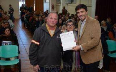 Entregaron 145 escrituras sociales en Olavarría