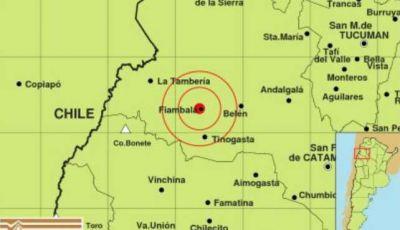 Un temblor sacudió a la localidad de Fiambalá