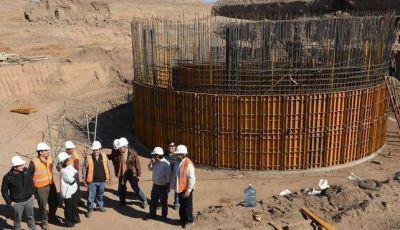 Avanzan las tareas en el puente de Huaycama y la Planta de Tratamiento