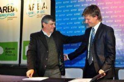 La Municipalidad firm� un convenio con Arba