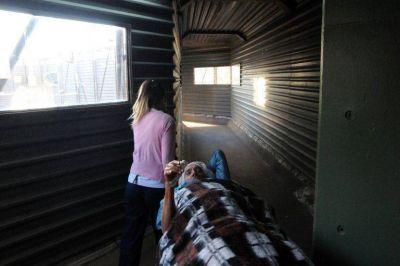 Por saturación de pacientes, en el San Martín se atiende en los pasillos
