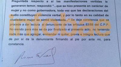 Vidal denunci� al concejal que dijo querer golpearla y confes� que se sinti�