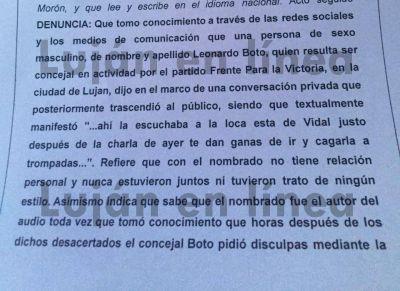 La gobernadora Vidal denunci� a Boto por �posible comisi�n de delito�