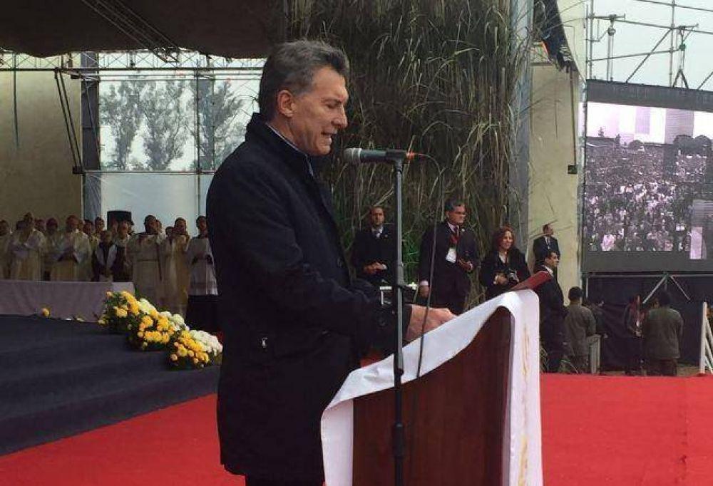 Macri arrancó un aplauso al pedir a Dios poder defender la vida desde la concepción