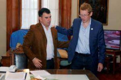 El Intendente recibió al presidente del Banco Provincia