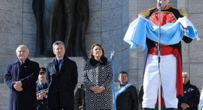 Macri encabezó un hermético acto por el día de la Bandera