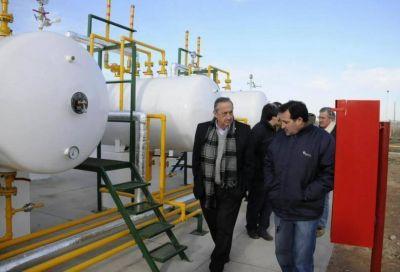 El Intendente recorrió la obra que permitirá extender el suministro de gas a toda lo localidad de Gardey
