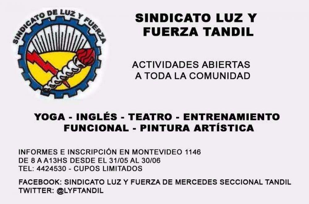 Hasta el 30 de junio está abierta la inscripción en el Sindicato de Luz y Fuerza Tandil