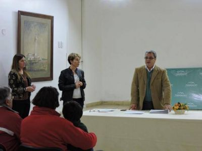 Sergio Bordoni entregó escrituras