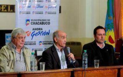 El vicegobernador bonaerense visitó Chacabuco
