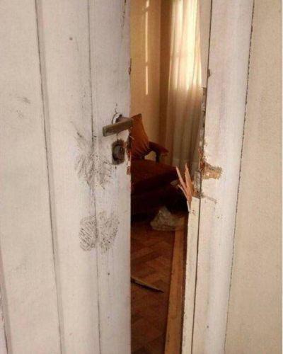 A Cristina Kirchner le violentaron su casa de R�o Gallegos y denunci� persecuci�n de la Metropolitana