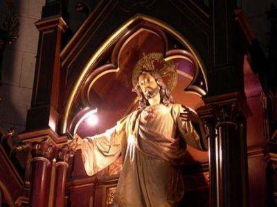 Se suspendió la procesión del Sagrado Corazón de Jesús por el tiempo