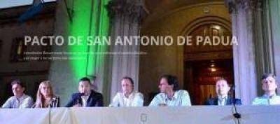 IMPORTANTES DIRIGENTES SE COMPROMETEN CON LOS VALORES DEL PACTO DE SAN ANTONIO DE PADUA
