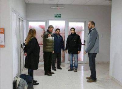Melella recorri� la obra del Centro Municipal de Salud