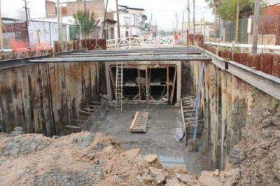 Lomas: construyen el Aliviador Este para evitar las inundaciones