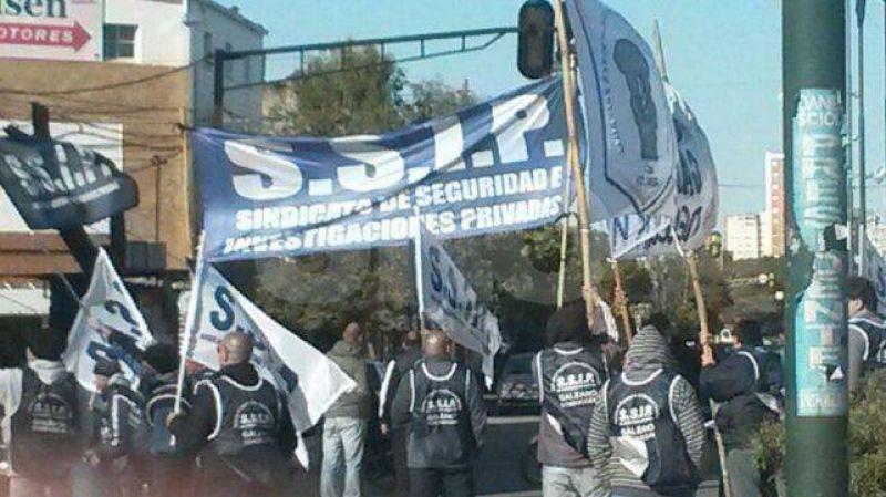 Protesta del sindicato de Seguridad Privada
