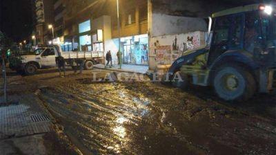 Otro ca�o roto genera un corte de tr�nsito en San Juan y Mu�ecas