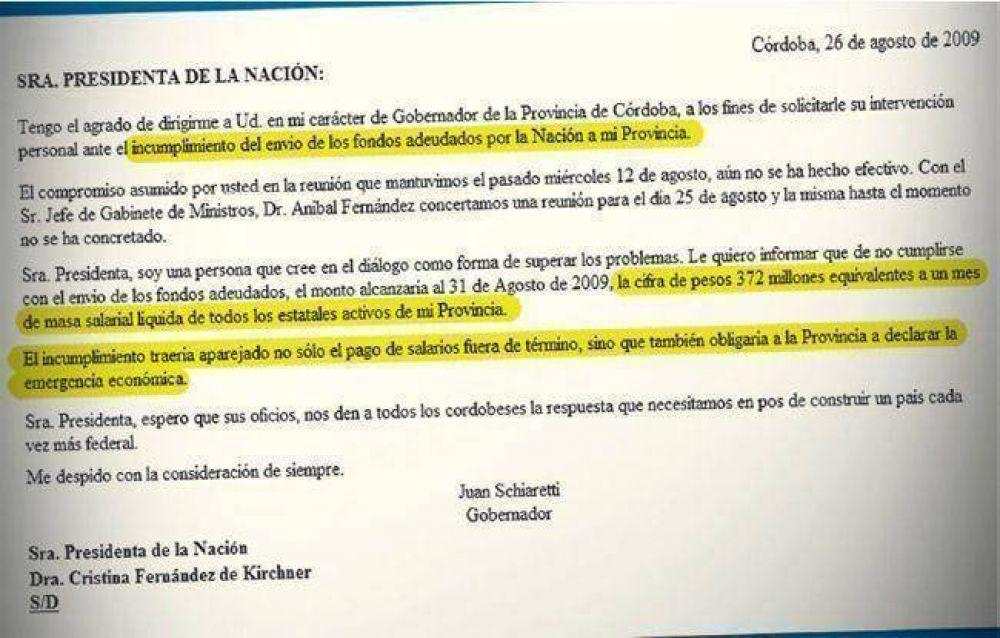 Scioli esquivó pago desdoblado. Córdoba declararía emergencia