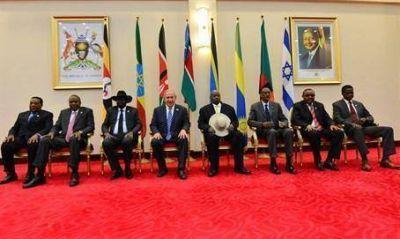 Netanyahu destac� el v�nculo entre �frica e Israel en la cumbre con los siete l�deres africanos