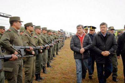 Sin la presencia de Bullrich, Peppo lanzó el operativo antinarco desde Castelli