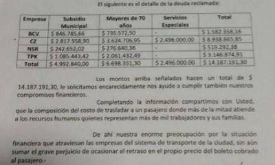 Posadas: Empresas de transporte reclaman a la municipalidad una deuda de 14 millones de pesos