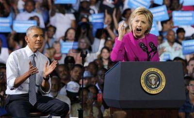 Juntos a la par: Obama se mete de lleno para pasarle el mando a Hillary