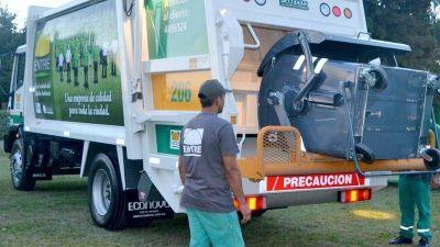 Recolección de residuos durante el fin de semana largo