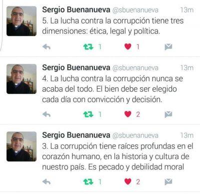 Mons. Buenanueva escribió diez tuits para pensar y discutir sobre corrupción
