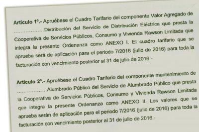Rawson: advierten sobre tarifazo ilegal de la Cooperativa Eléctrica