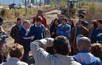 Intensifican la ejecución de obras de infraestructura en el expredio Pereyra Rozas
