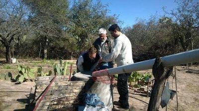 Instalaron cisternas para captación de agua de lluvia para consumo humano y huertas comunitarias