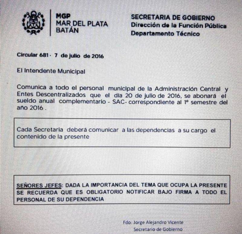 Municipales en pie de guerra: Decretar�an un paro general hasta cobrar el aguinaldo