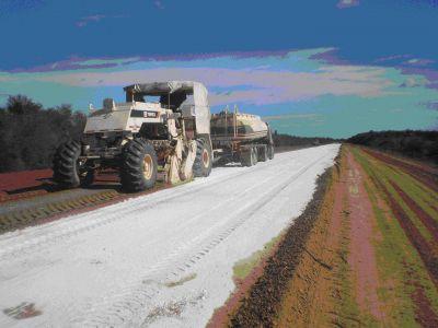 El gobierno avanza en las obras de pavimentaci�n de la ruta provincial 20