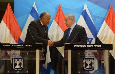 Netanyahu y el canciller egipcio se reunieron en Israel para dialogar sobre la paz en Medio Oriente