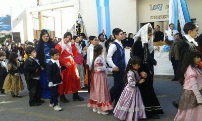 La Virgen del Carmen presidió actos por los 200 años de la Independencia