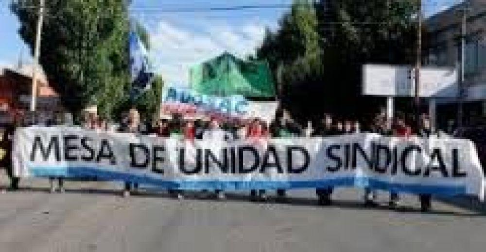 """Mesa de Unidad Sindical convocó al paro """"interprovincial"""" del jueves"""