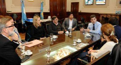 Ritondo se reunió con legisladores del FPV-PJ y Cambiemos