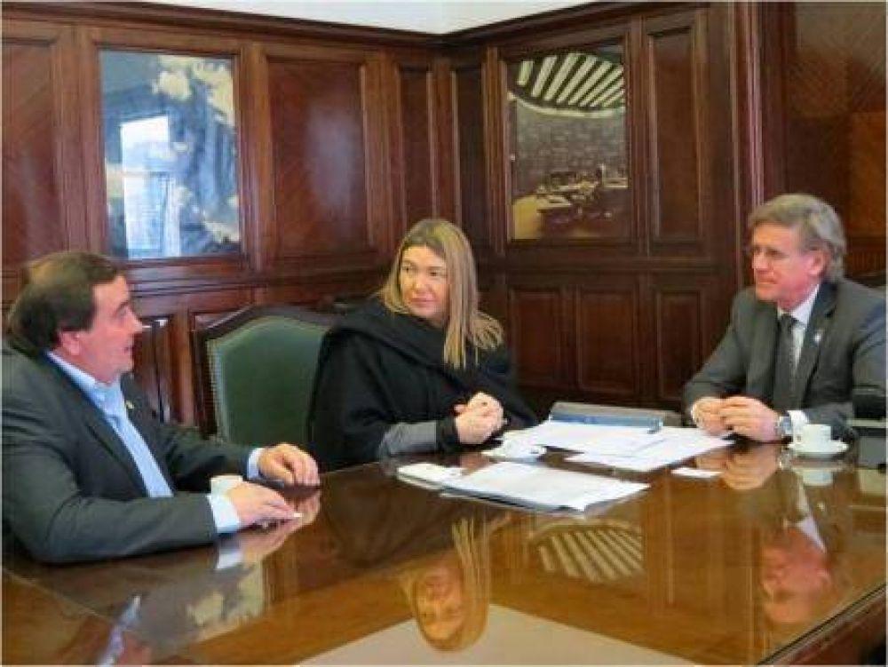 La gobernadora se reunió con el secretario de Energía Eléctrica de Nación
