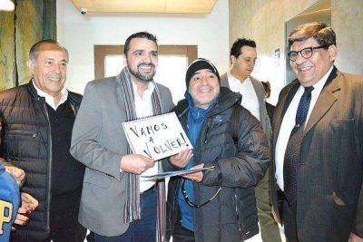 Maradona dej� Ushuaia tras sus mini vacaciones