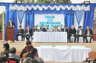 128° aniversario: Peppo inauguró múltiples obras en Laguna Blanca