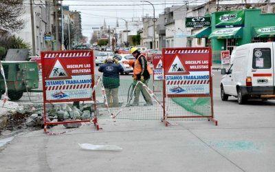 Trabajos de bacheo en la ciudad y las localidades