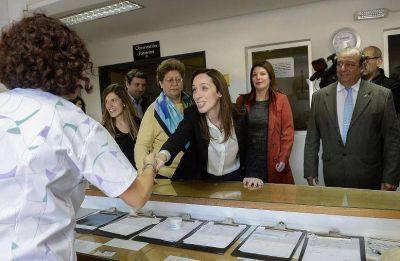 María Eugenia Vidal, y un mensaje a los intendentes del PJ: