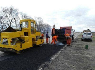 Iniciaron las obras de bacheo en la Ruta Nacional 152