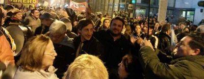 Dirigentes K presentes en la protesta contra el tarifazo