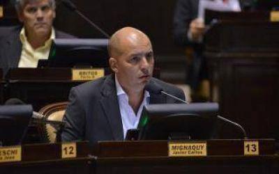 El Diputado Mignaquy pide que se suspenda el aumento de la VTV