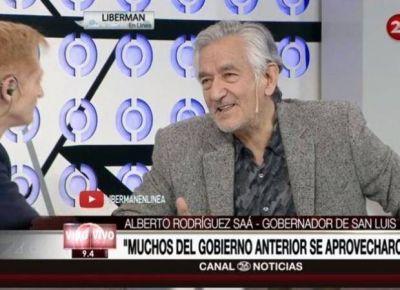 """Rodríguez Saá: """"Al país le está faltando la bandera de la paz"""""""
