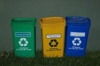 Colocarán tachos para la basura reciclable