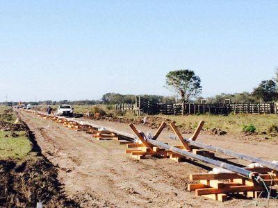 Las obras del Gasoducto del NEA continúan a buen ritmo sostenido en Laguna Blanca