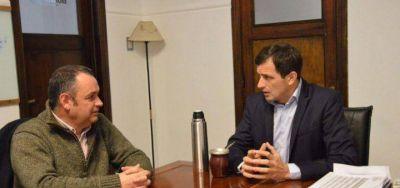 Los intendentes Cellillo y Bucca se reunieron en Bolívar