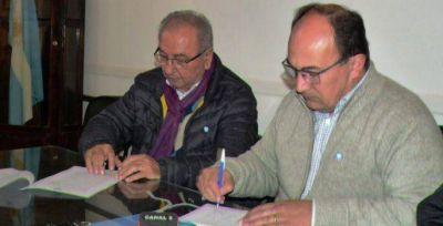 Se realizó una firma de convenio con la empresa Bruno Construcciones